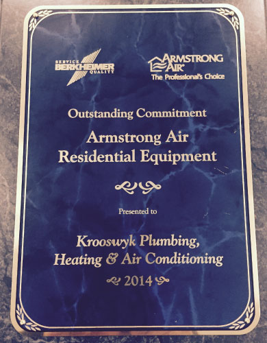 Krooswyk won an award for Outstanding Commitment